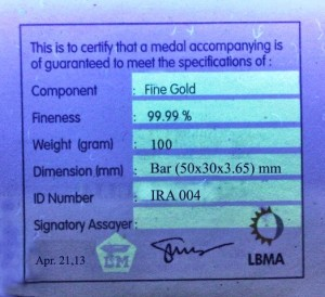 sertifikat di uv medan antam